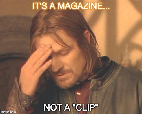Magazine vs. Clip meme