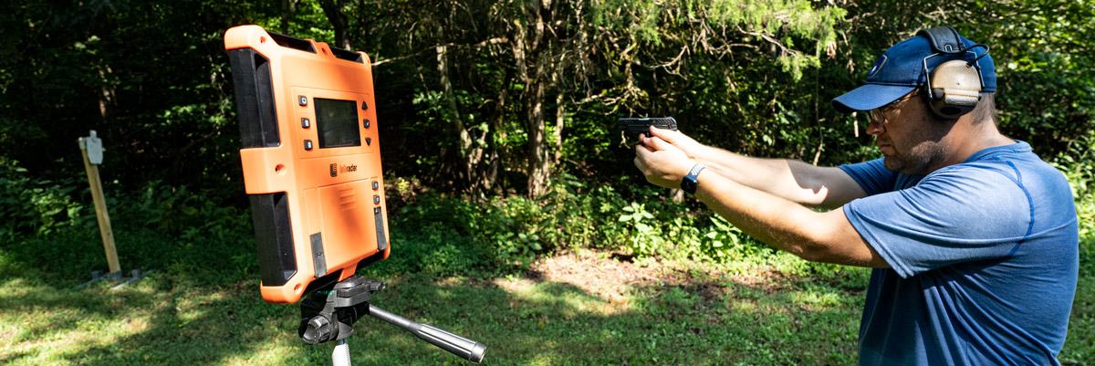 Testing muzzle velocity at the shooting range