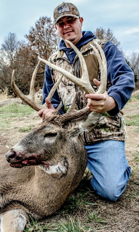 Mike shot a trophy whitetail deer