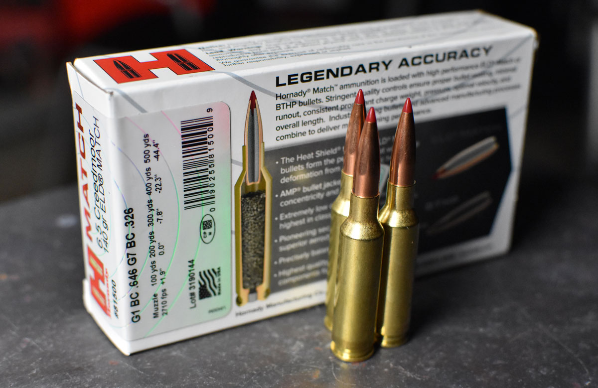 Hornady 6.5 Creedmoor with the muzzle energy on the box