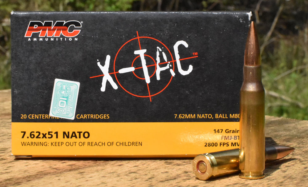 PMC M80 ammunition on a table