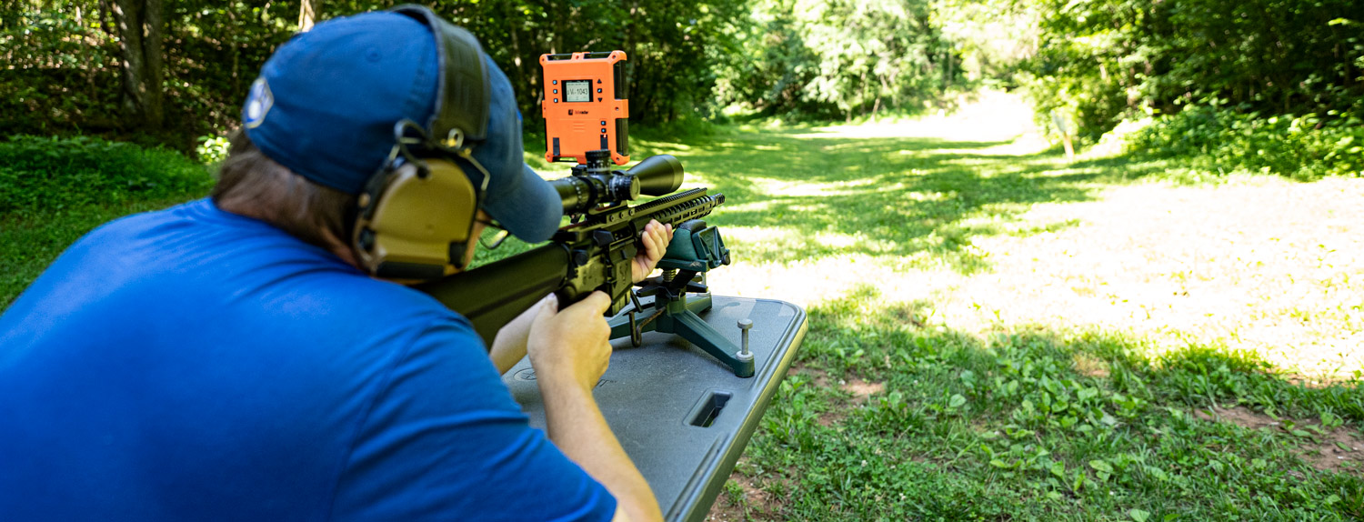 Shooting a 6mm ARC rifle at the range