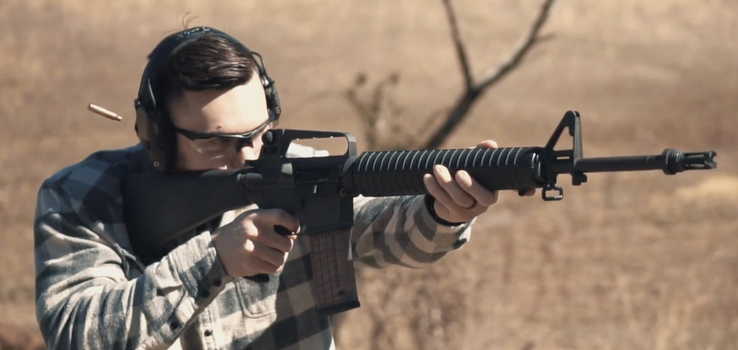 Shooting PMC 5.56x45 ammo with an AR-15 at the range