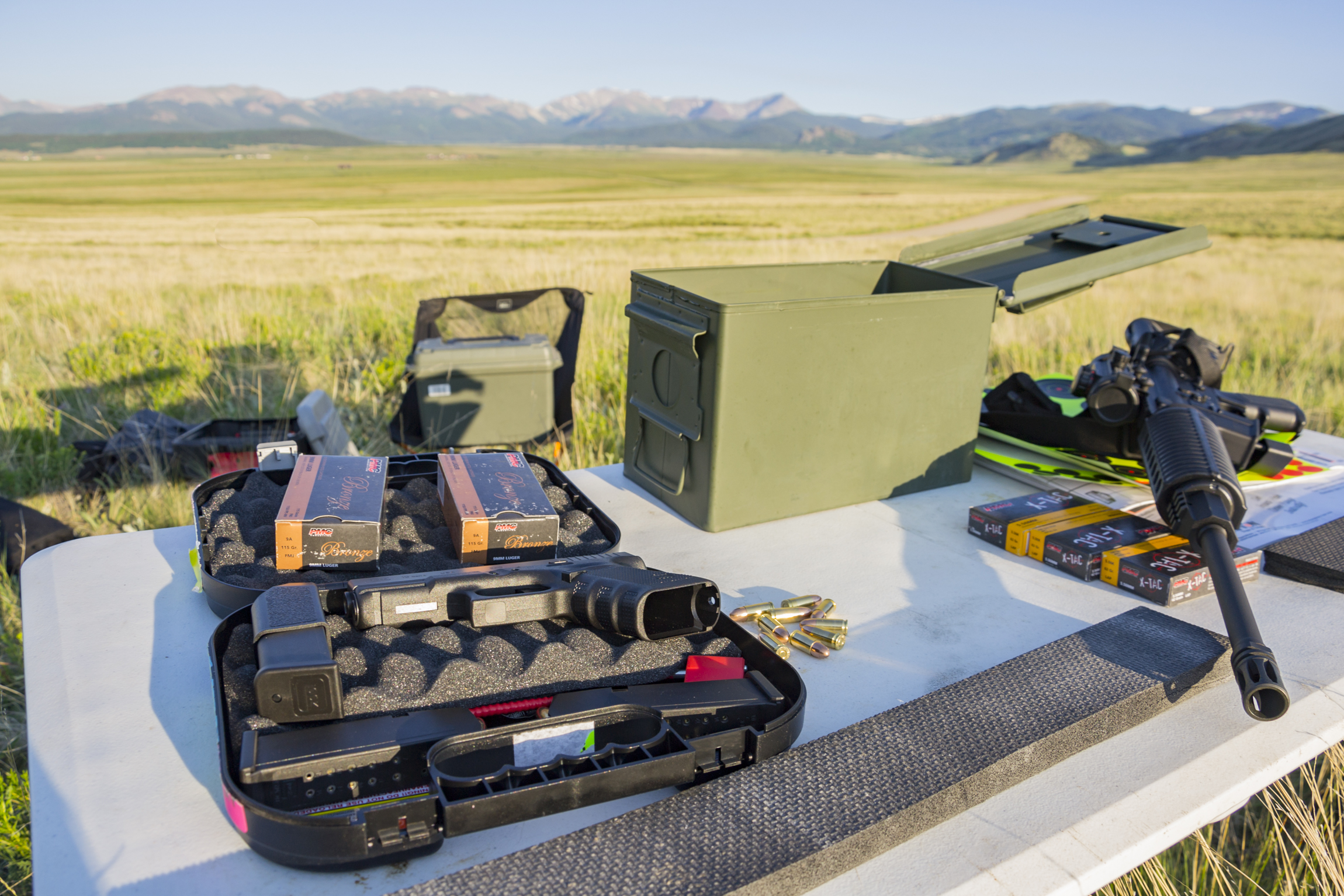 Firearm target shooting in Pike-San Isabel National Forest
