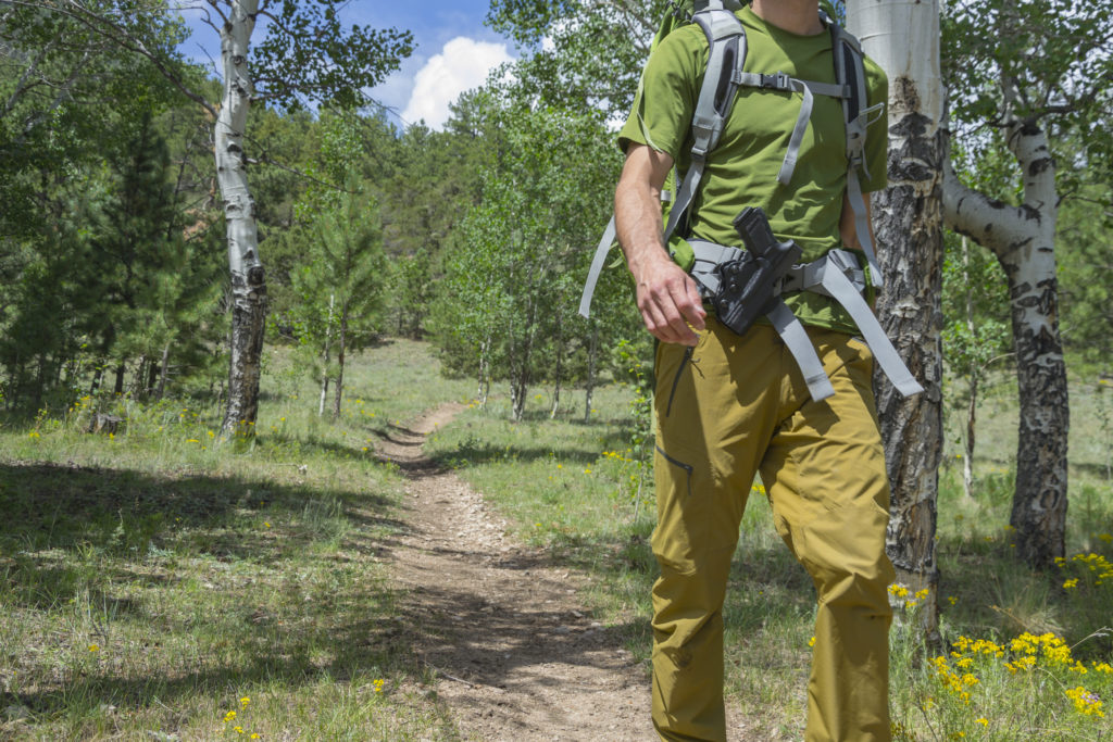 Hiking with a gun holster