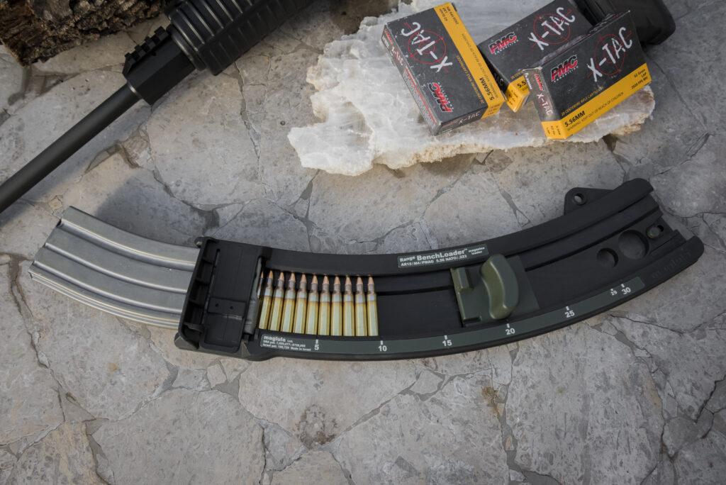 Maglula's Benchloader on a flat surface