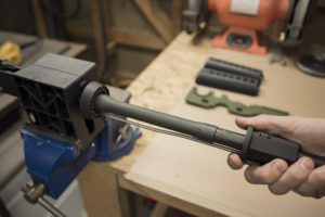 Sliding the gas block off the AR-15 upper receiver