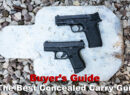 Two of the best concealed carry gun options available at a shooting range