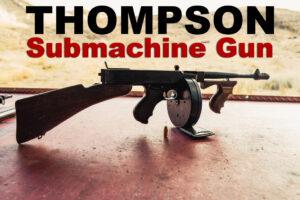 Thompson submachine gun at a shooting range