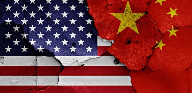 U.S. / China flag Graphic