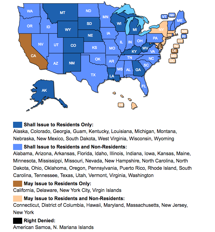 www.USACarry.com Concealed Carry Permit Reciprocity Map