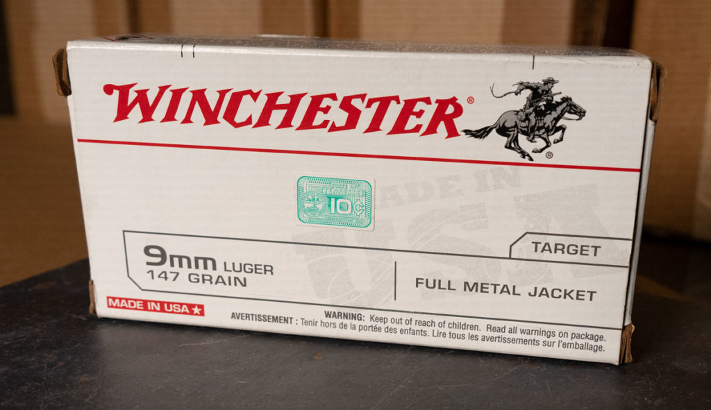 Winchester white box 9mm ammo