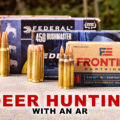 AR hunting calibers on a table
