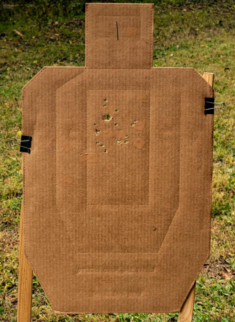 Winchester Super-X buckshot into a target