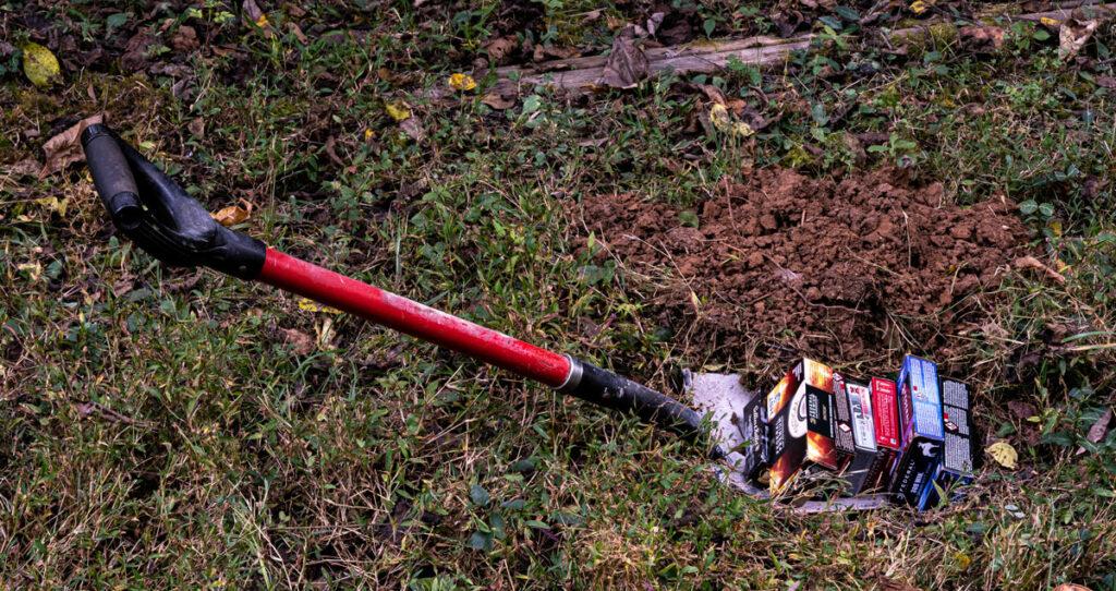 burying ammo in a yard