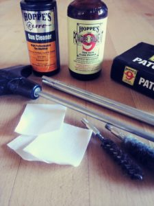 cleaning supplies you'll want when breaking in a new rifle barrel