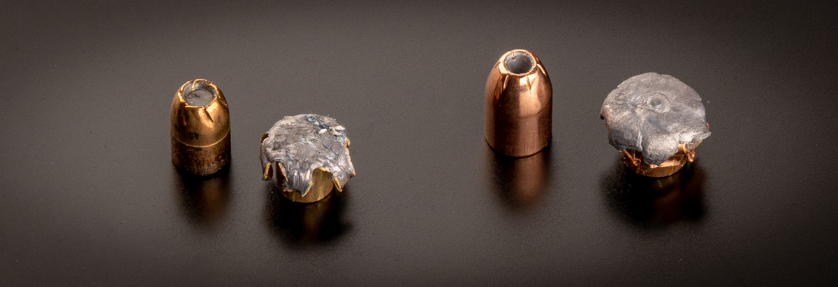 expanded hollow points in 10mm and 357 sig