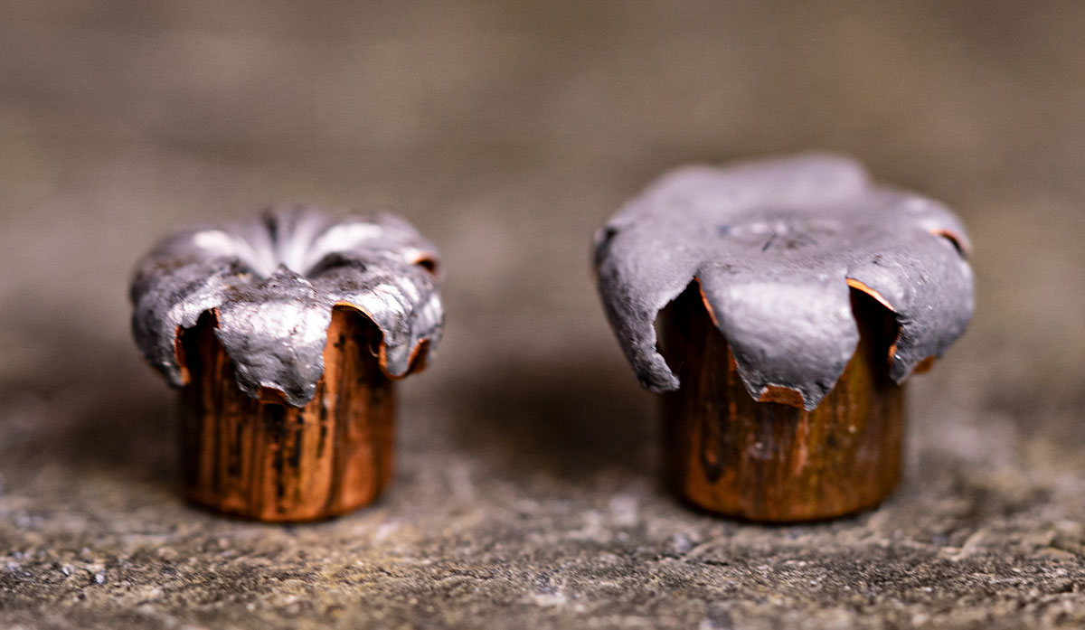 A look at expanded 40 S&W vs 9mm ammo rounds