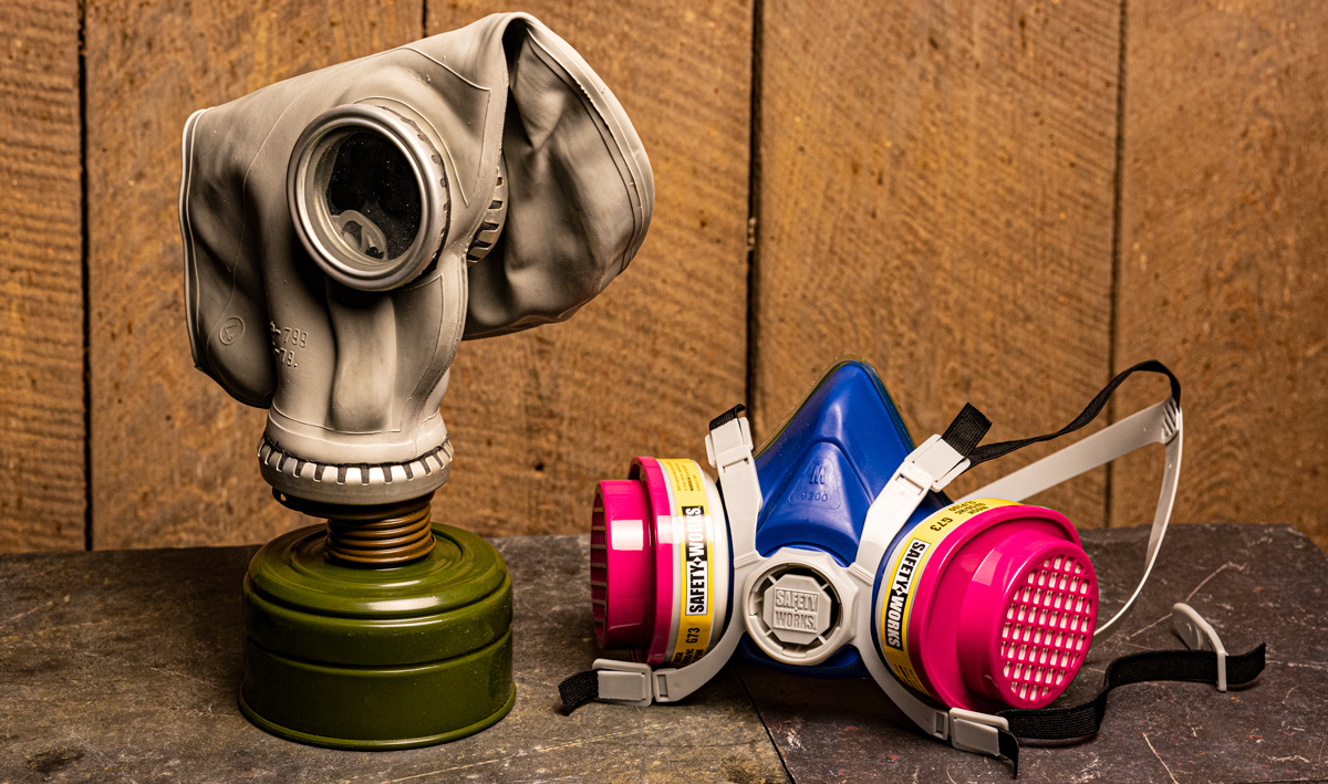gas masks vs respirators