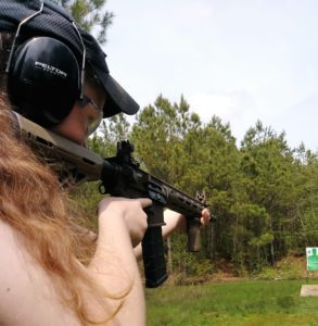 Firing an AR-15 at the range and observing muzzle energy