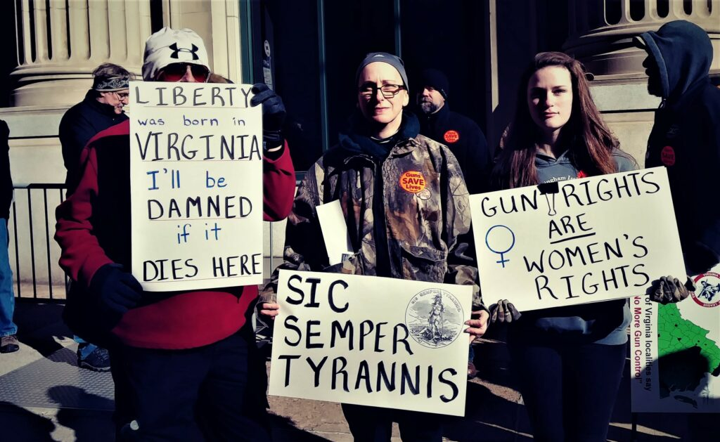 2nd Amendment supporting signs in Richmond, VA