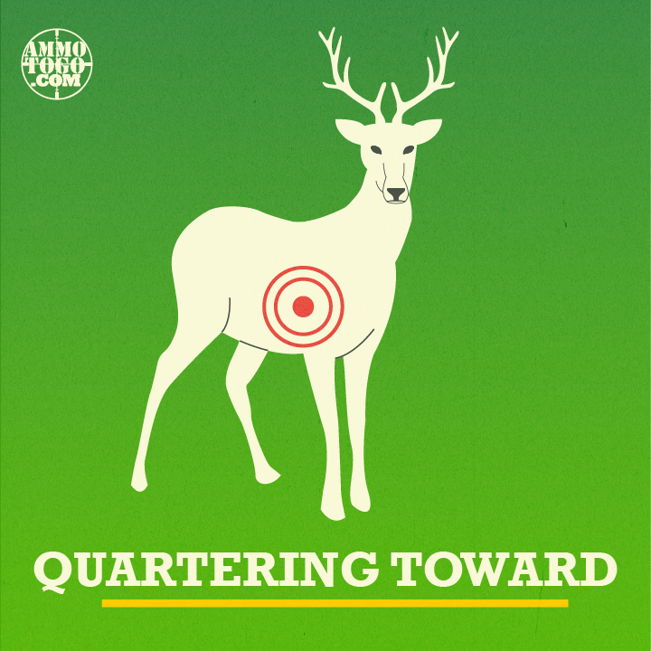 Quartering toward shot angle graphic