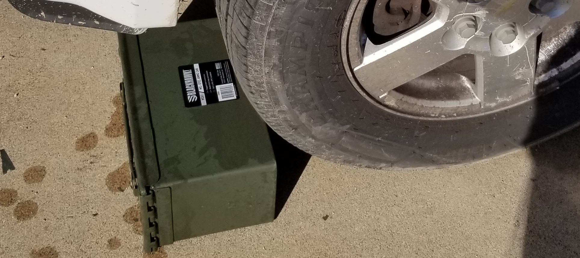 Running over ammo cans with a vehicle
