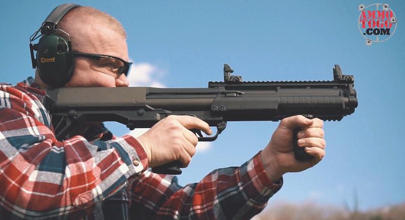 shooting 12 gauge buckshot at the range