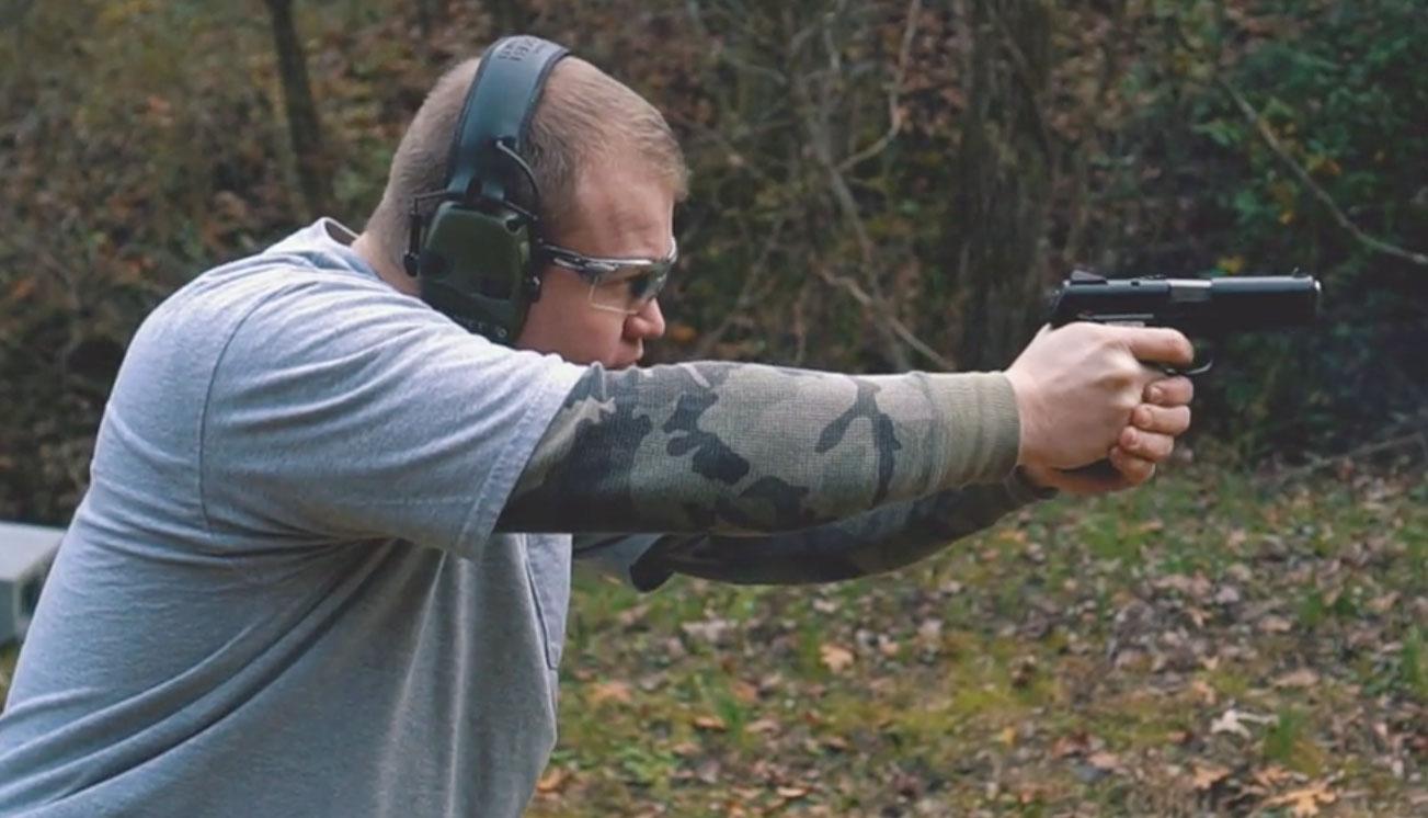 Shooting 45 ACP at the range