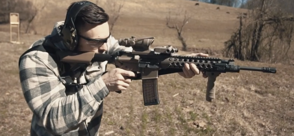 Shooting an ar-15 rifle