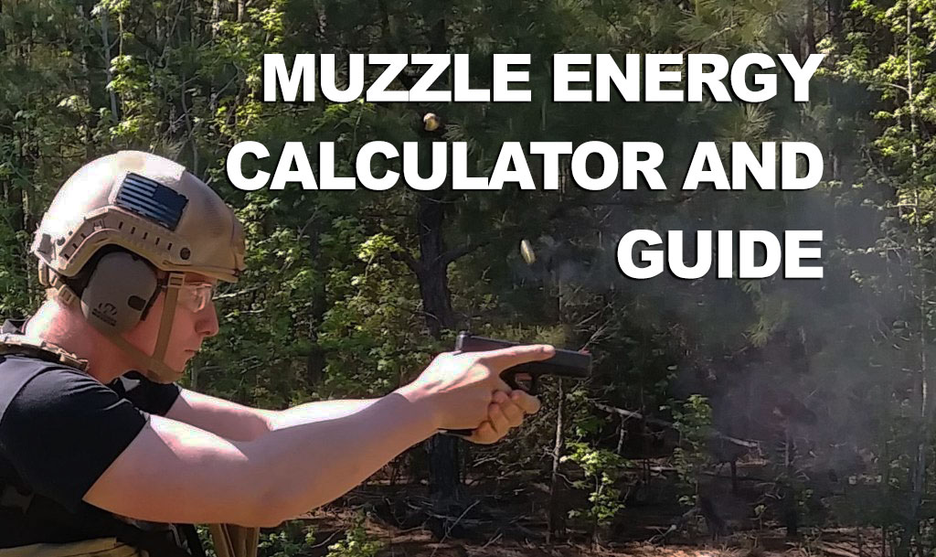 Demonstrating muzzle energy at the shooting range with a pistol