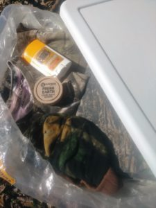 Proper storage of hunting clothing