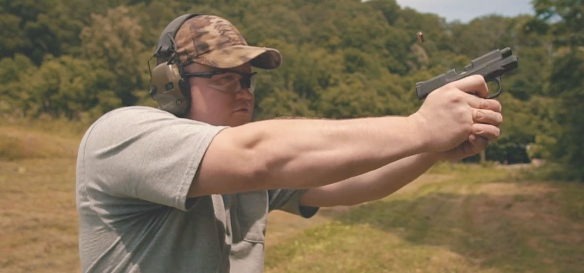Target shooting at a shooting range