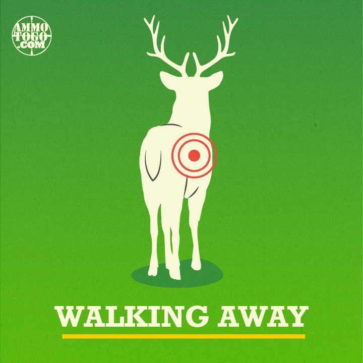 Graphic of a deer walking away