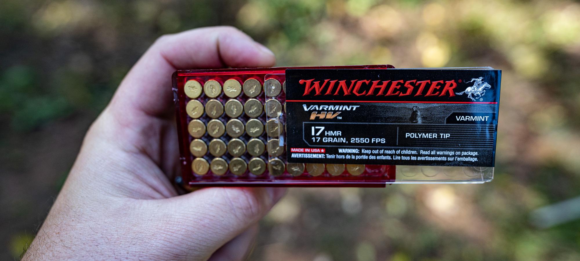 Winchester Super-X 17 HMR ammo